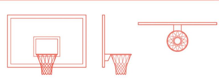 Bentuk Papan pantul ring basket werving