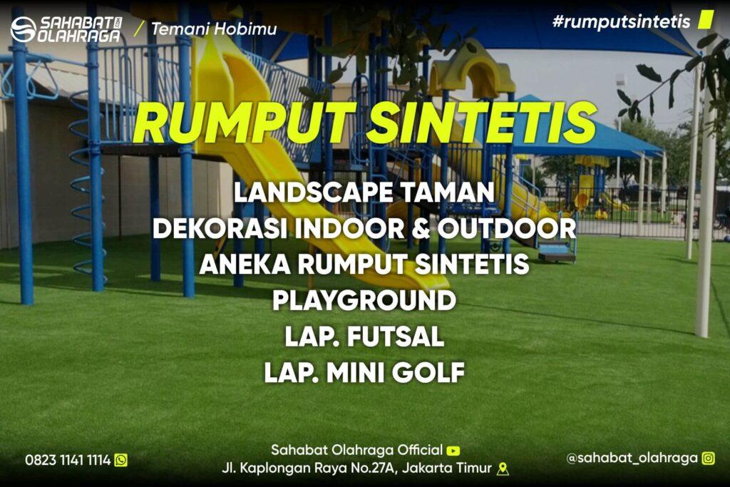 Rumput Sintetis landscape taman, dekorasi indoor & outdoor, aneka rumput sintetis, playground, lapangan futsal, lapangan mini golf